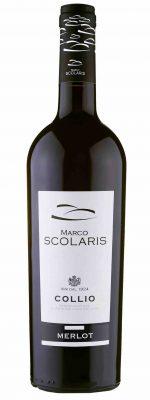 Una bottiglia di MERLOT SCOLARIS DOC 2015 COLLIO