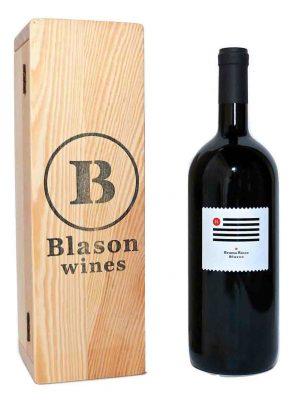 Una bottiglia di Bruma Rosso Magnum 2013 doc Blason-wines