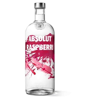 Una bottiglia di VODKA ABSOLUT RASPBERRY 100 CL.