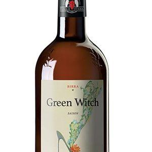 Una bottiglia di birra foglie d'erba green witch chiara