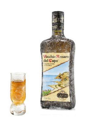 Amaro del Capo con bicchiere